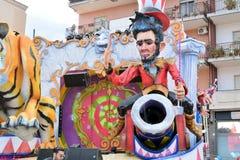 Alegoryczny pławik przedstawia cyrkowego charakteru obraz royalty free