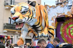 Alegoryczny pławik przedstawia tygrysa obraz stock