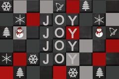 Alegría de la Feliz Navidad Imágenes de archivo libres de regalías