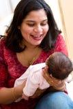 Alegría de la maternidad Imágenes de archivo libres de regalías