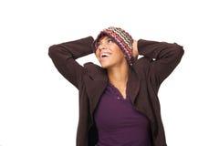 Alegría de la mujer del afroamericano Fotografía de archivo libre de regalías