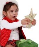 Alegría de la Navidad de la niñez imagenes de archivo
