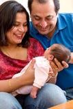 Alegría de la paternidad Imagen de archivo
