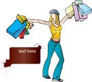 Alegría de las compras Imagenes de archivo