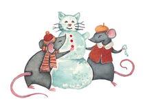Alegría del invierno Fotografía de archivo libre de regalías