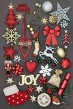 Alegría en la Navidad Fotografía de archivo
