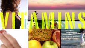 Alegría, vitaminas, aptitud y belleza almacen de metraje de vídeo
