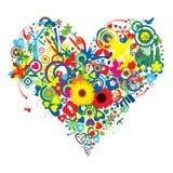 Alegría y amor abundantes Foto de archivo libre de regalías
