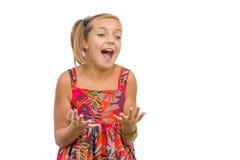 Alegría de las emociones emocionadas del niño Foto de archivo libre de regalías