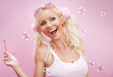 Alegría rosada Foto de archivo