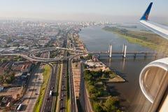 alegre桥梁guaiba波尔图河 库存照片