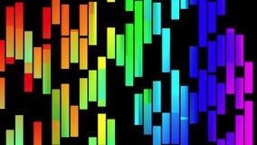 Alegre colorido animado dinámico del arco iris del color del bloque del fondo del nuevo movimiento universal móvil suave abstract ilustración del vector