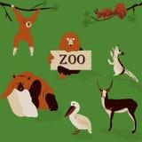 Alegre, jardim zoológico de animais bonitos, selvagens Foto de Stock Royalty Free