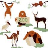 Alegre, jardim zoológico de animais bonitos, selvagens Fotografia de Stock