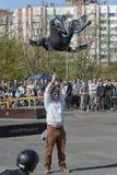 Alegre-salto Foto de Stock