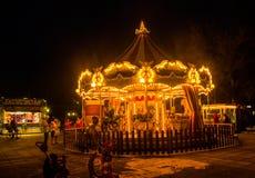 Alegre vai o círculo na cidade de Lefkada Fotos de Stock Royalty Free