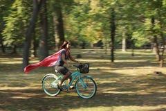 Alegria da bicicleta Fotografia de Stock Royalty Free