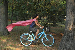Alegria da bicicleta Foto de Stock