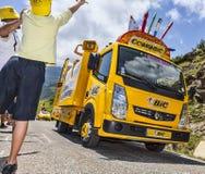 A alegria da caravana da publicidade Imagem de Stock