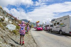 A alegria da caravana da publicidade - Tour de France 2015 Foto de Stock Royalty Free