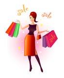 Alegria da compra ilustração royalty free
