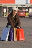 Alegria da compra Imagem de Stock