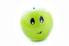 Alegria de Apple com uma face Imagens de Stock Royalty Free