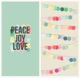 Alegria do amor da paz. Projeto colorido do Natal Imagens de Stock