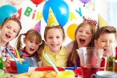 Alegria do aniversário Foto de Stock Royalty Free
