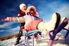 Alegria do inverno fotos de stock royalty free