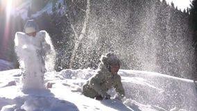 Alegria do inverno video estoque