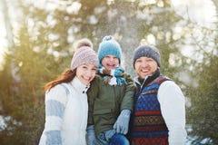 Alegria do inverno fotografia de stock royalty free