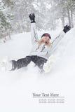 Alegria do inverno foto de stock