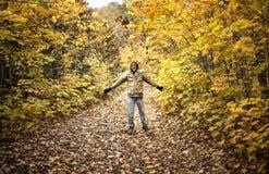 Alegria do outono Fotografia de Stock