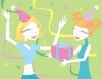 Alegria dos aniversários Fotografia de Stock