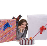 A alegria dos presentes Foto de Stock