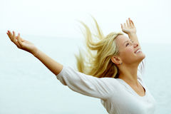 Alegria e liberdade Foto de Stock Royalty Free