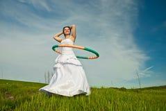 Alegria nova da noiva Foto de Stock