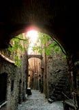 Alei antyczna wioska Bussana Vecchia - Włochy (Liguria) Obrazy Royalty Free