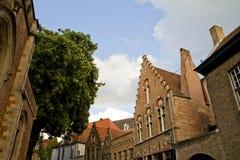 alei Belgium Bruges domy Obraz Stock