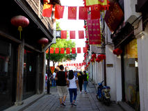 Aleia da cidade antiga de Shan Tang imagem de stock