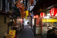 Aleia de Omoide Yokocho no Tóquio Fotos de Stock Royalty Free