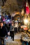 Aleia do mercado da cidade do Jerusalém Fotografia de Stock