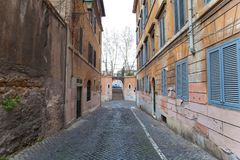 Aleia do ` s de Polverone em Roma Vicolo del Polverone um Roma Imagens de Stock Royalty Free