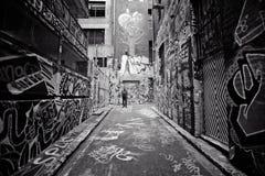 Aleia dois dos grafittis Fotos de Stock