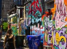 Aleia dos grafittis de Toronto Imagens de Stock