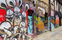 Aleia dos grafittis de Toronto Fotografia de Stock
