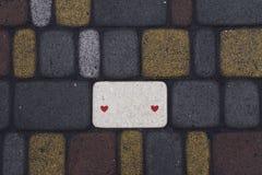 Aleia dos tijolos coloridos lisamente colocados Fotos de Stock Royalty Free