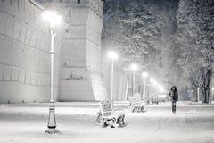 Aleia nevado perto de St Sergy Monastery da trindade fotos de stock royalty free