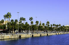 Aleia perto do porto do ` s de Barcelona imagem de stock royalty free